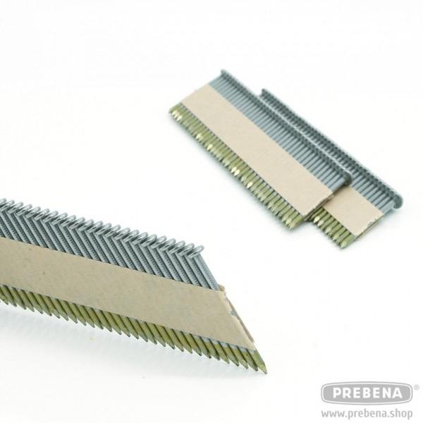 PR28/70BK Halbkopf-Streifennägel Blank Glattschaft 70mm Länge