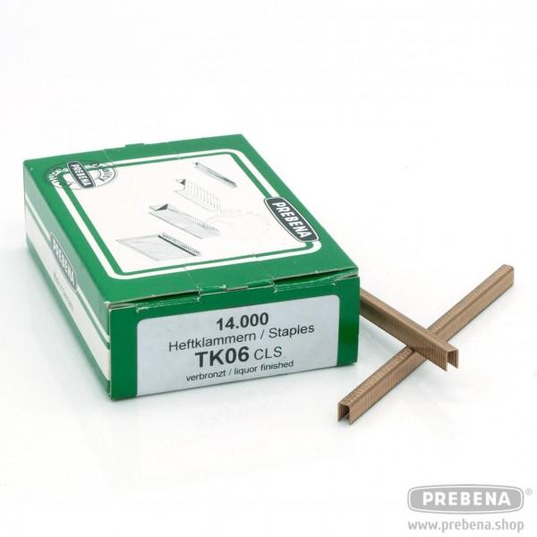 TK06CLS Heftklammern verbronzt 6mm Länge