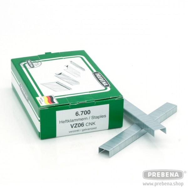 VZ06CNK Heftklammern verzinkt 6mm Länge