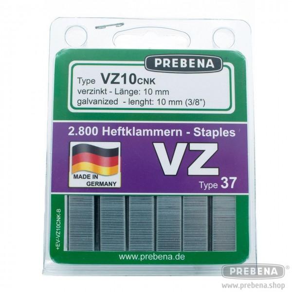 VZ10CNK-B Heftklammern im Blister verzinkt 10mm Länge