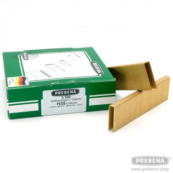 H35CNKHA Heftklammern verzinkt geharzt 35mm Länge