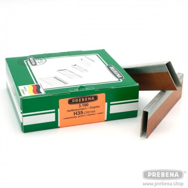 H35CRFHA Heftklammern rostfrei geharzt 35mm Länge