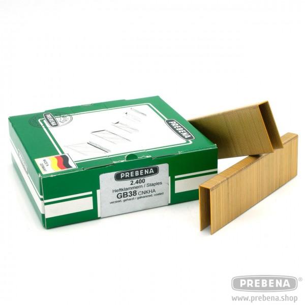 GB38CNKHA Heftklammern verzinkt geharzt 38mm Länge
