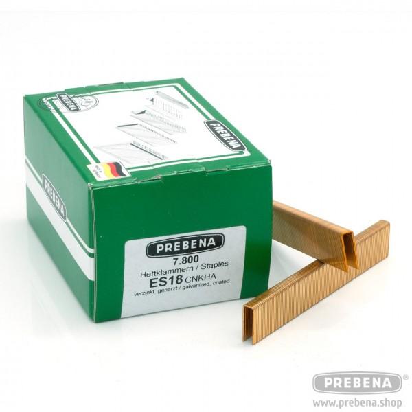 ES18CNKHA Heftklammern verzinkt geharzt 18mm Länge