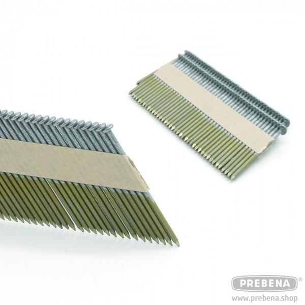 PR28/75BKRI Halbkopf-Streifennägel blank Ringschaft 75mm Länge