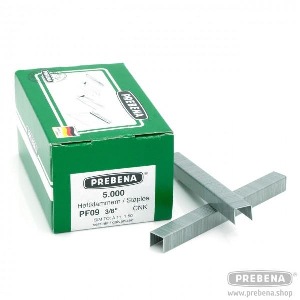 PF09CNK Heftklammern verzinkt 9mm Länge