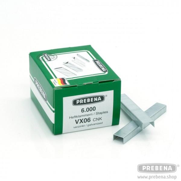 VX06CNK Heftklammern verzinkt 6mm Länge