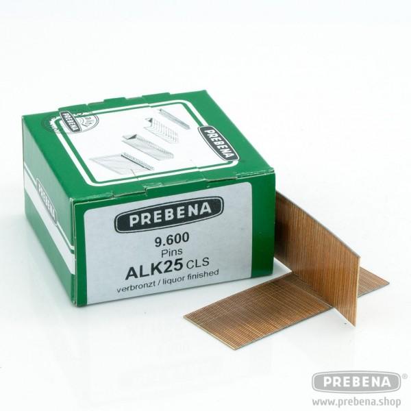 ALK25CLS Pins (Stifte mit Kopf) verbronzt 25mm Länge