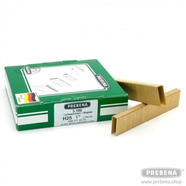 H25CNKHA Heftklammern verzinkt geharzt 25mm Länge