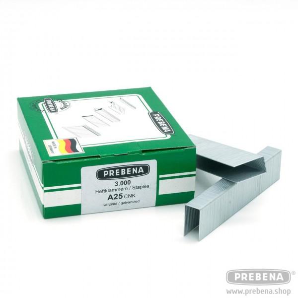 A25CNK Heftklammern verzinkt 25mm Länge