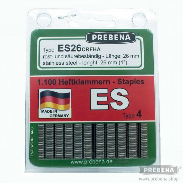 ES26CNKHA-B Heftklammern im Blister verzinkt geharzt 26mm Länge