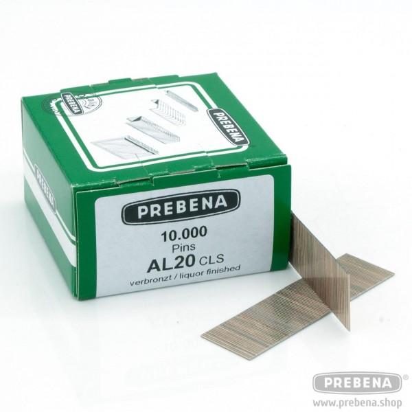 AL20CLS Pins (Stifte ohne Kopf) verbronzt 20mm Länge