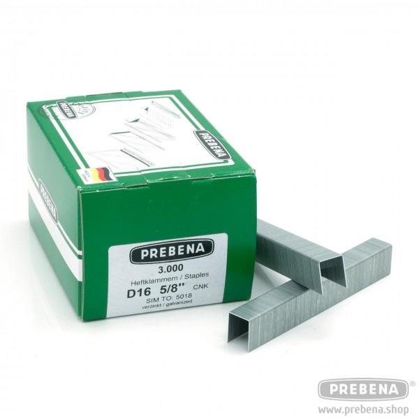 D16CNK Heftklammern verzinkt 16mm Länge