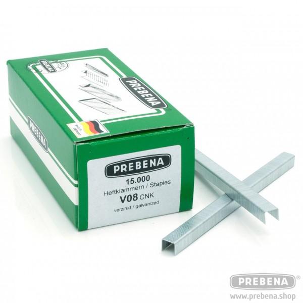 V08CNK Heftklammern verzinkt 8mm Länge