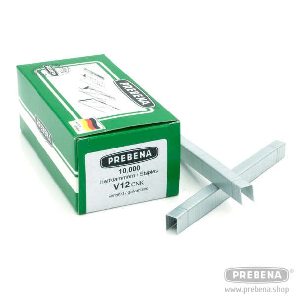 V12CNK Heftklammern verzinkt 12mm Länge