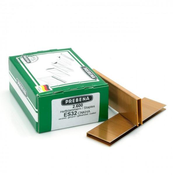 ES32CNKHA Heftklammern verzinkt geharzt 32mm Länge