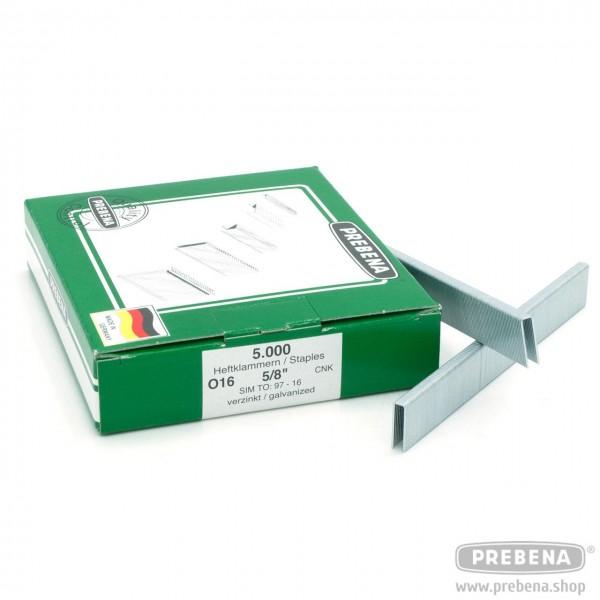 O16CNK Heftklammern verzinkt 16mm Länge