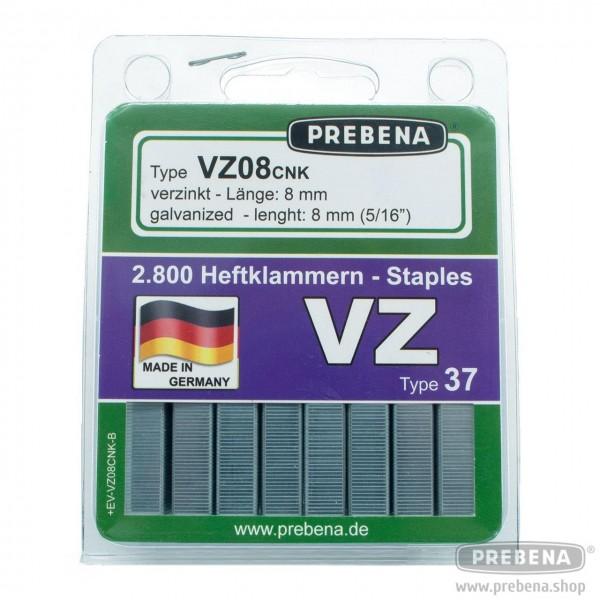 VZ08CNK-B Heftklammern im Blister verzinkt 8mm Länge