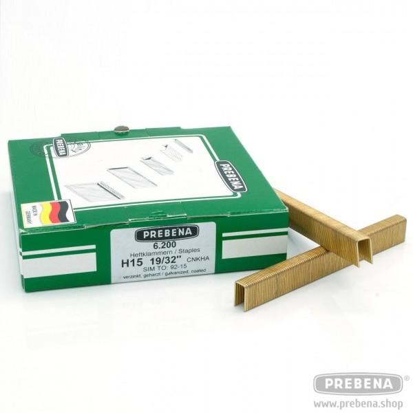 H15CNKHA Heftklammern verzinkt geharzt 15mm Länge