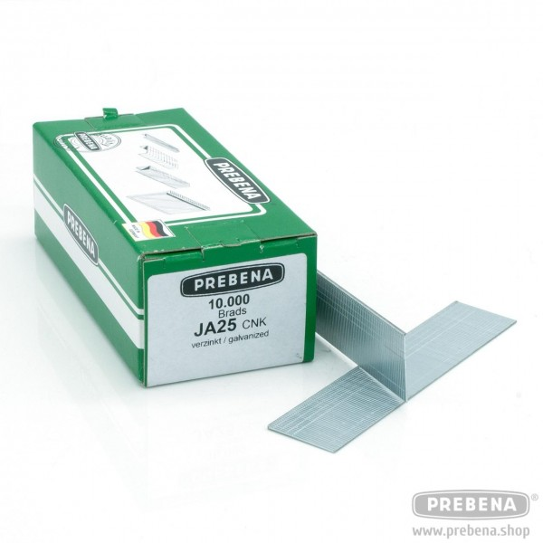 JA25CNK Stauchkopfnägel (Brads) verzinkt 25mm Länge