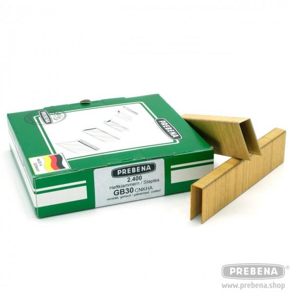 GB30CNKHA Heftklammern verzinkt geharzt 30mm Länge