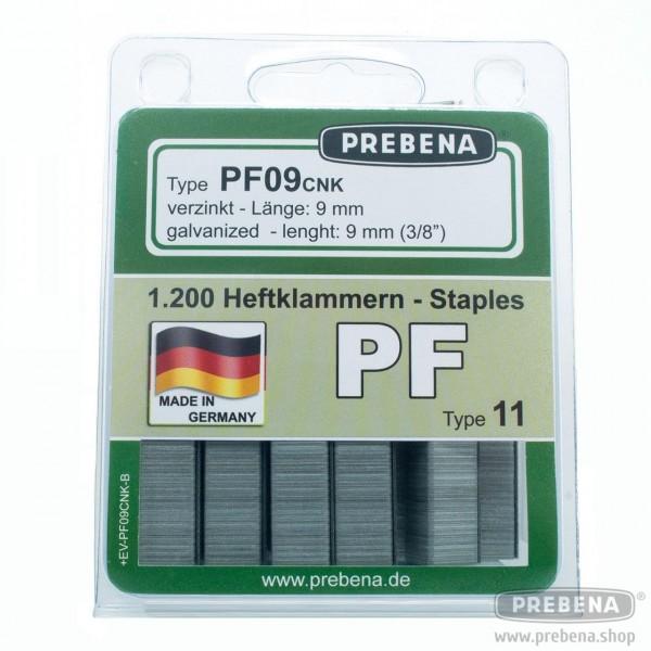 PF09CNK-B Heftklammern im Blister verzinkt 9mm Länge
