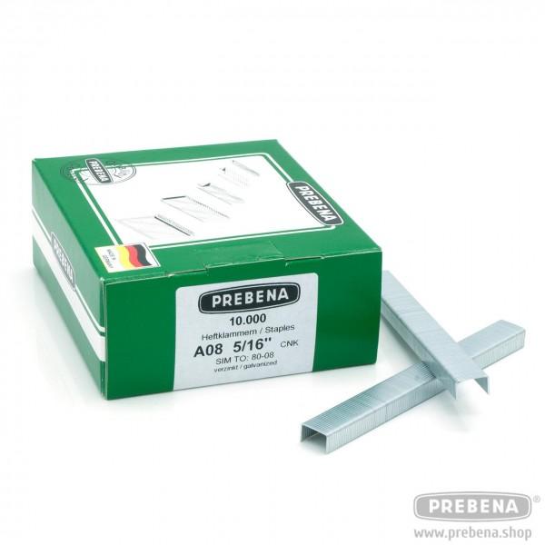 A08CNK Heftklammer verzinkt 8 mm Länge