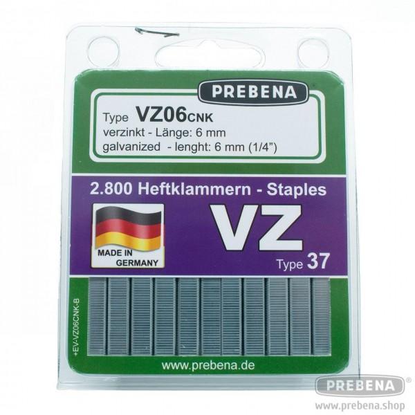 VZ06CNK-B Heftklammern im Blister verzinkt 6mm Länge
