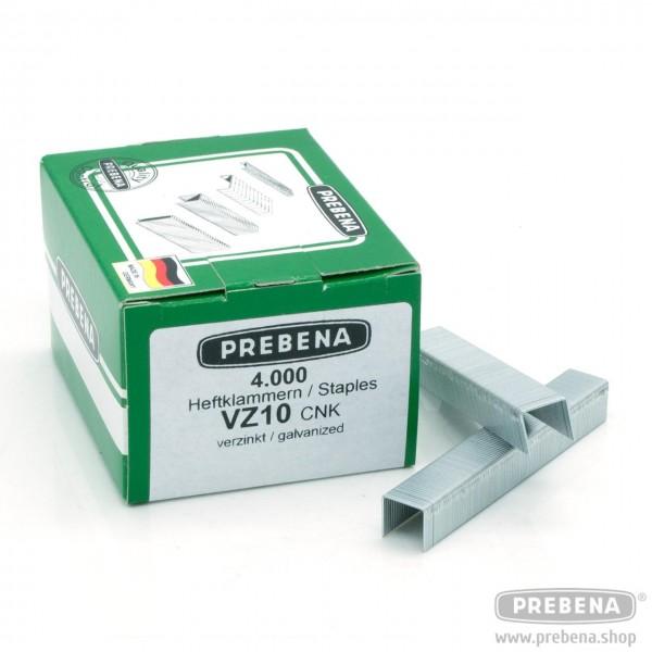 VZ10CNK Heftklammern verzinkt 10mm Länge