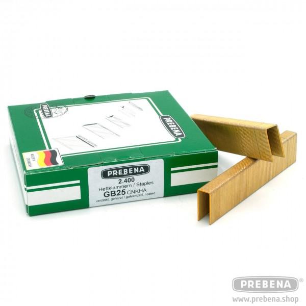 GB25CNKHA Heftklammern verzinkt geharzt 25mm Länge