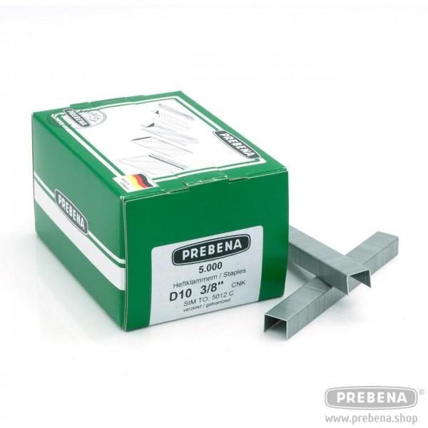 D10CNK Heftklammern verzinkt 10mm Länge