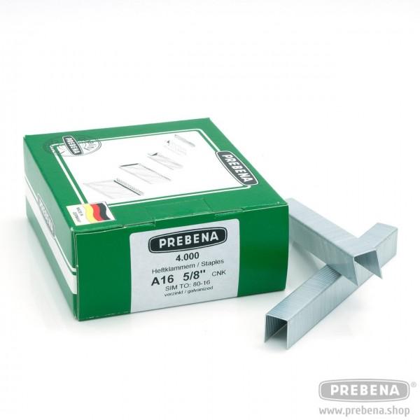 A16CNK Heftklammern verzinkt 16mm Länge