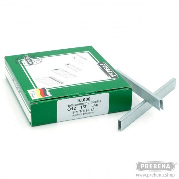 O12CNK Heftklammern verzinkt 12mm Länge