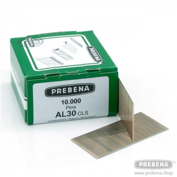 AL30CLS Pins (Stifte ohne Kopf) verbronzt 30mm Länge
