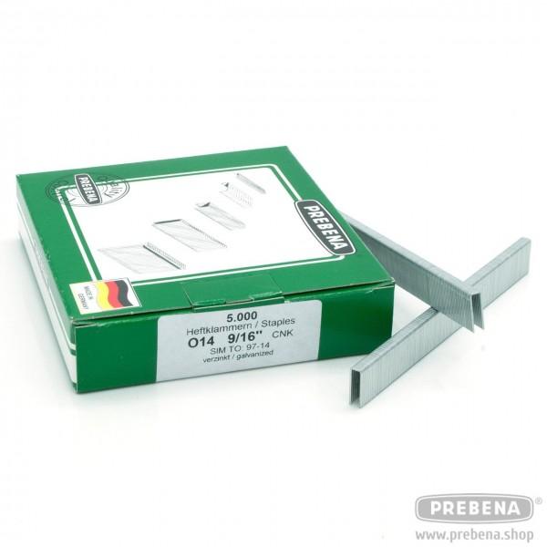O14CNK Heftklammern verzinkt 14mm Länge