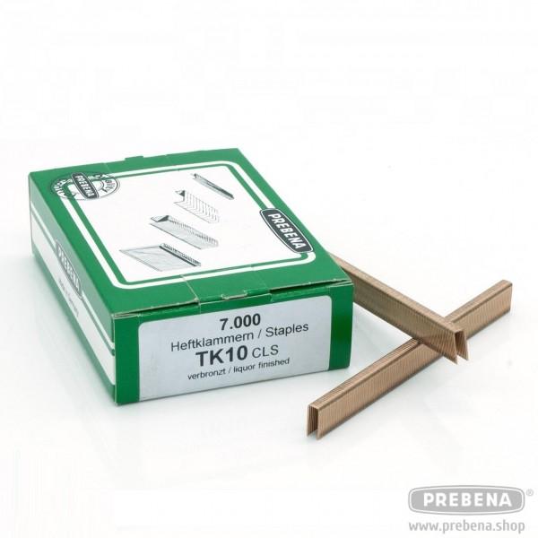 TK10CLS Heftklammern verbronzt 10mm Länge