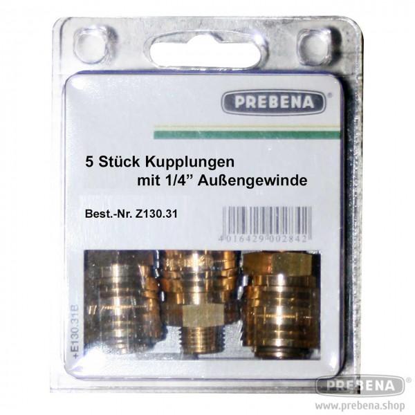 """Schnellkupplung-Set 1/4""""A 6 mm (5 Stück)"""