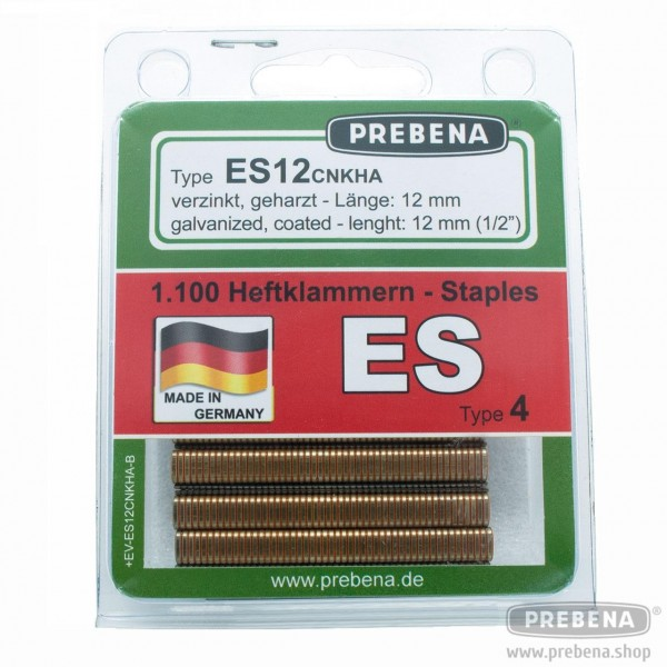 ES12CNKHA-B Heftklammern im Blister verzinkt geharzt 12mm Länge
