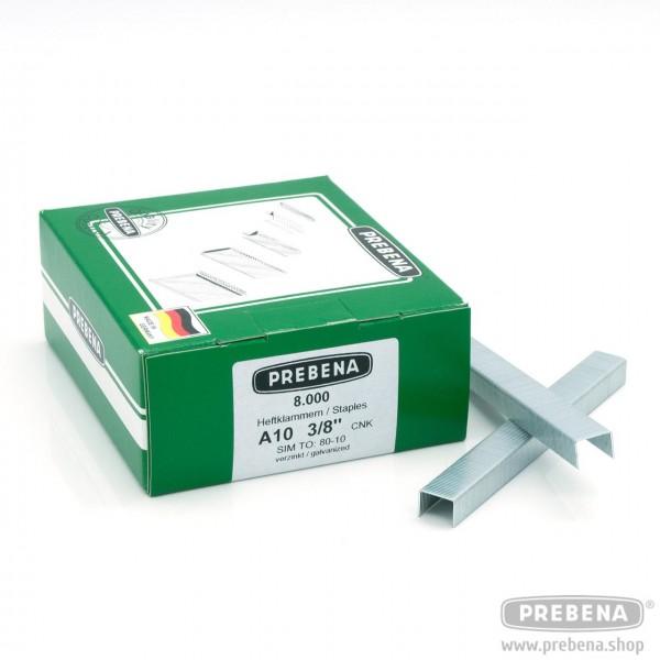 A10CNK Heftklammern verzinkt 10mm Länge