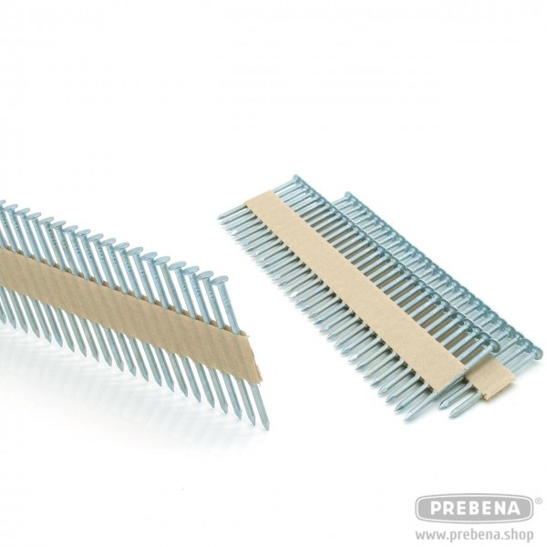 RKP28/65NK Rundkopf-Streifennägel verzinkt Glattschaft papiergebunden
