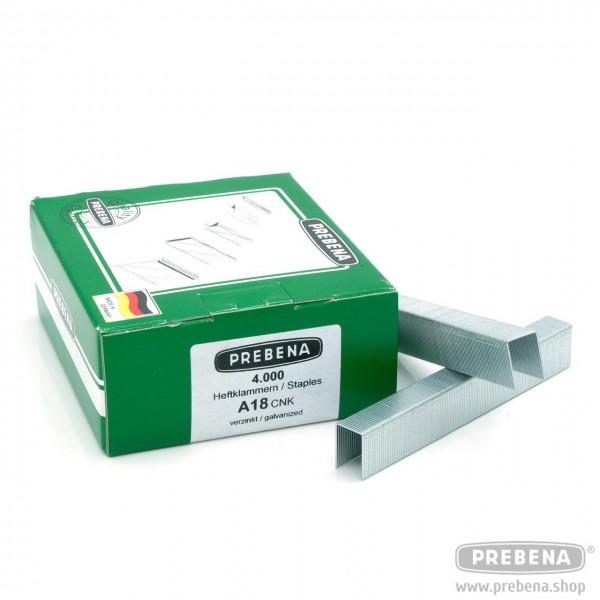 A18CNK Heftklammern verzinkt 18mm Länge