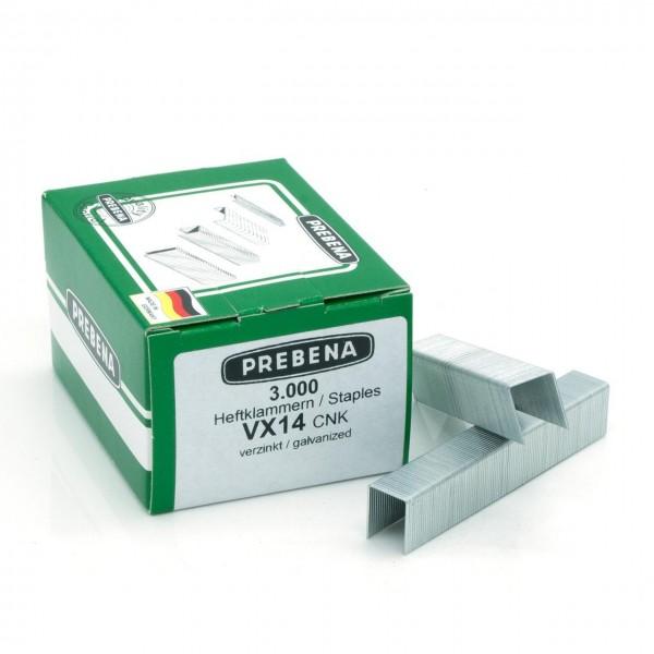 VX14CNK Heftklammern verzinkt 14mm Länge