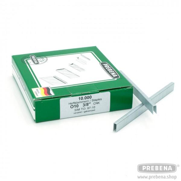 O10CNK Heftklammern verzinkt 10mm Länge