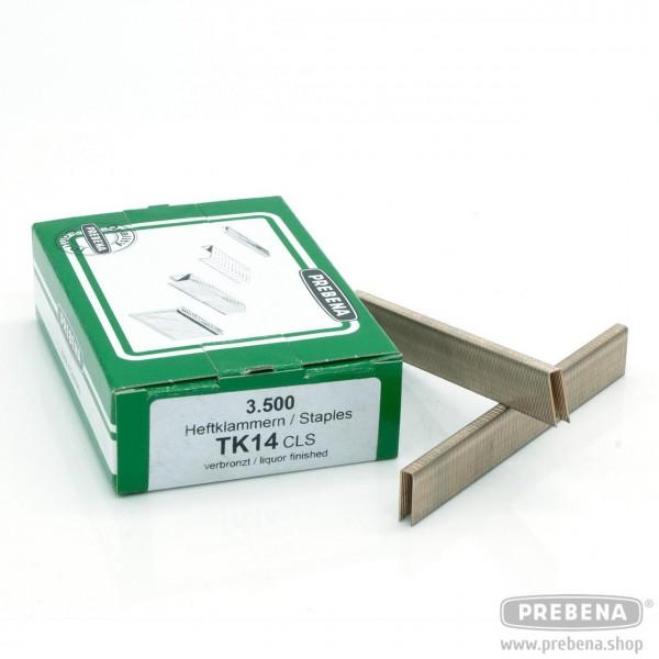 TK14CLS Heftklammern verbronzt 14mm Länge