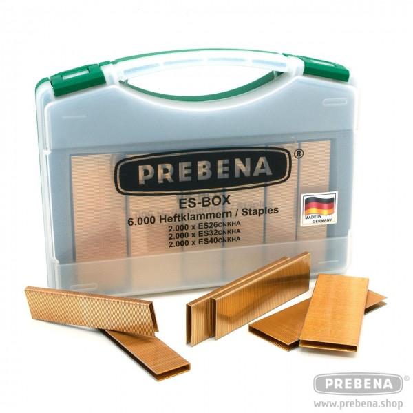 PREBENA ES-BOX Heftklammern verzinkt geharzt