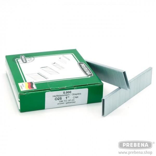 O25CNK Heftklammern verzinkt 25mm Länge