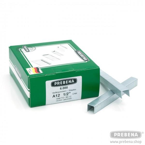 A12CNK Heftklammern verzinkt 12mm Länge