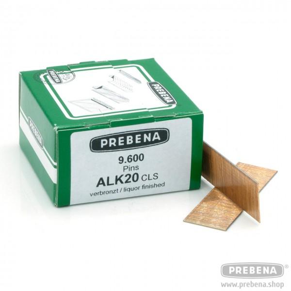 ALK20CLS Pins (Stifte mit Kopf) verbronzt 20mm Länge
