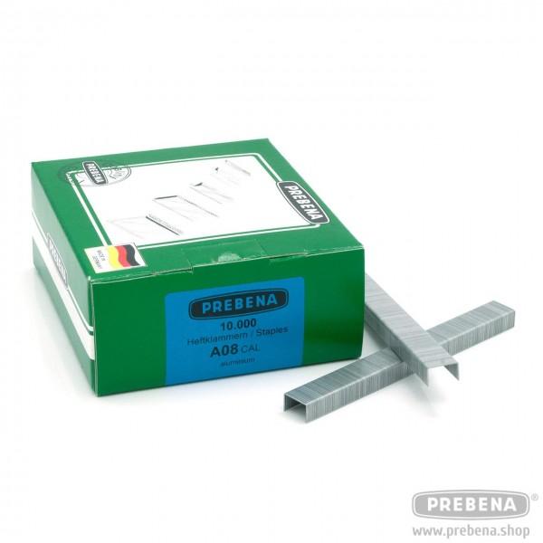 A08CAL Heftklammern Aluminium 8mm Länge