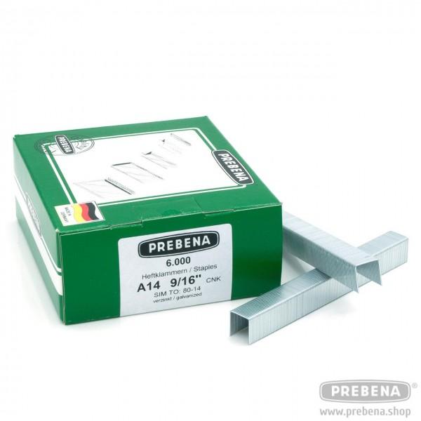 A14CNK Heftklammern verzinkt 14mm Länge